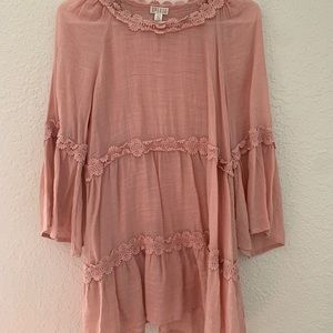 Spense flowy pink tunic top